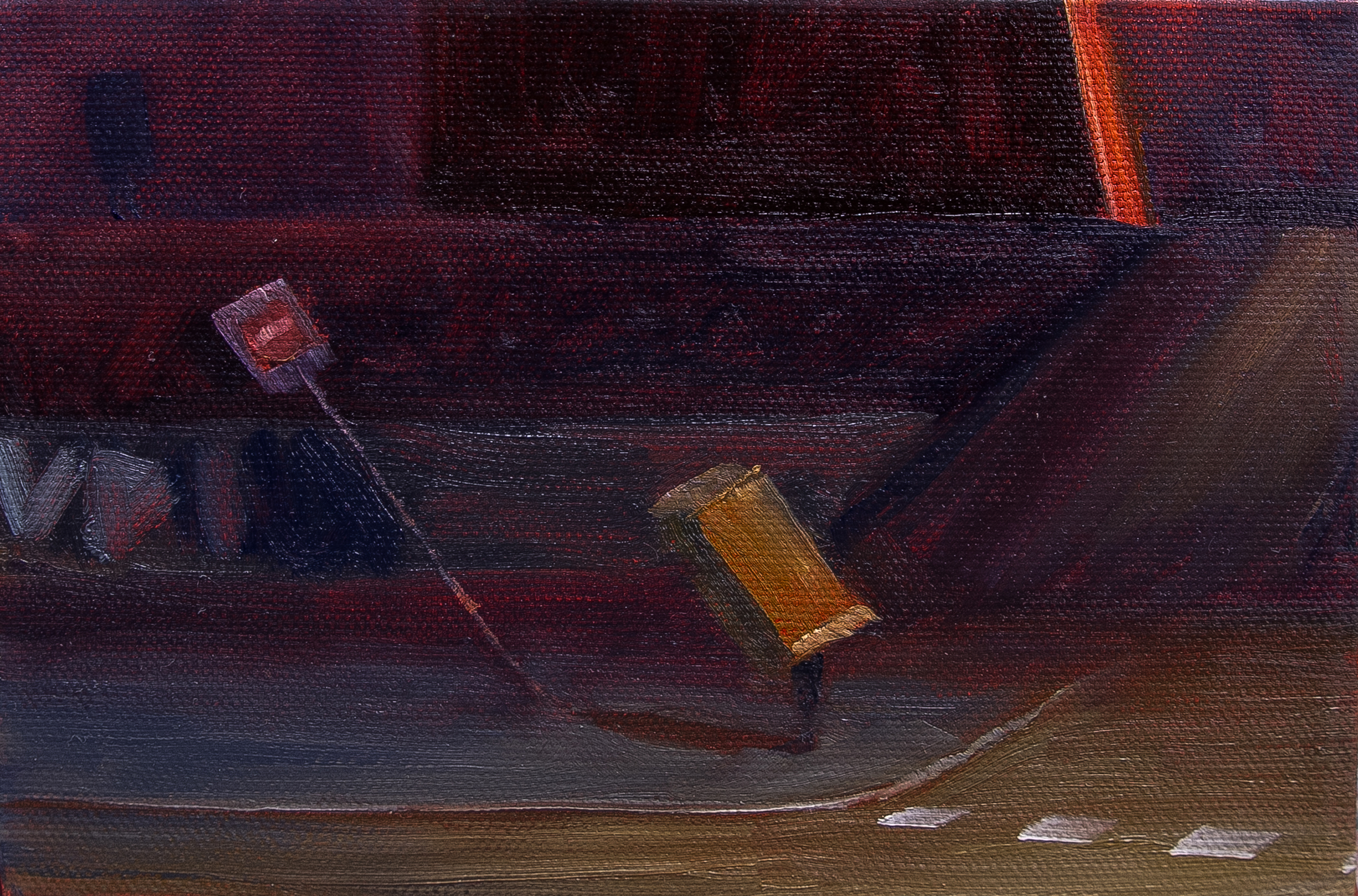 113-How Did I Get Here Oil on Canvas 12.5x18cm 2015