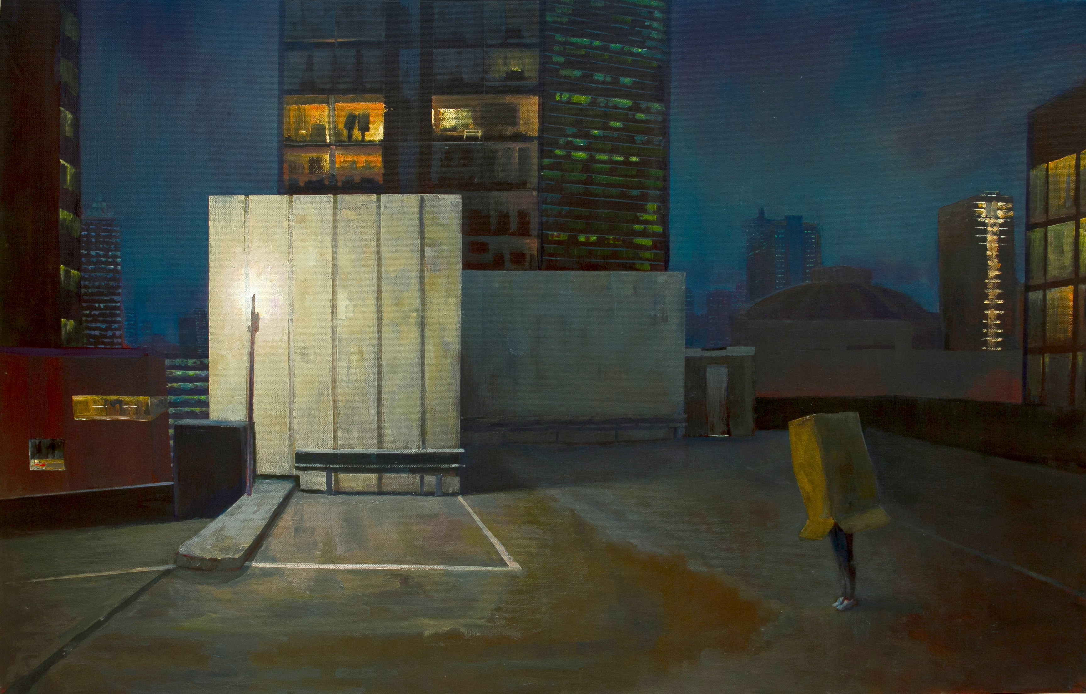 117-Under Stars Oil on Belgian Linen 86.5x130cm 2015